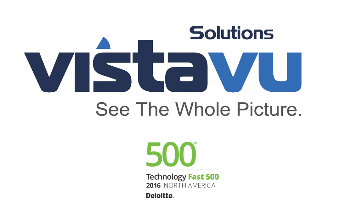 VistaVu Solutions Featured on the 2016 Deloitte Technology Fast 50 and Fast 500 Lists