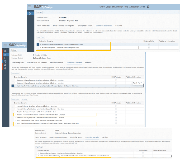 SAP Business ByDesign extension fields