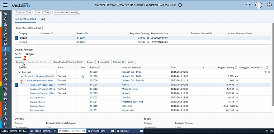 SAP Business ByDesign Material Flow