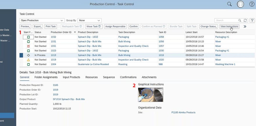 SAP Business ByDesign Production Control