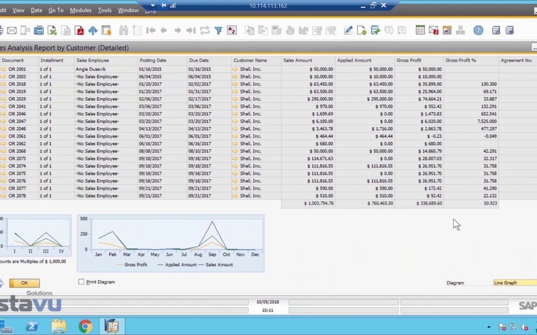 SAP Business One Dashboard Overview