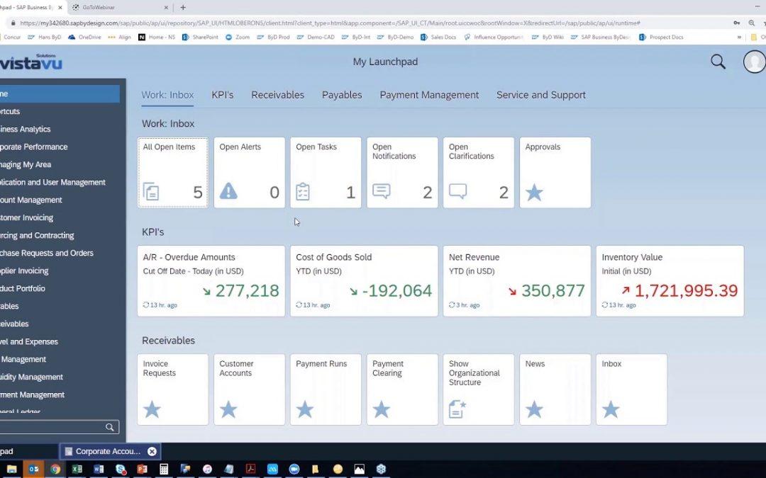 SAP Business ByDesign Basic navigation