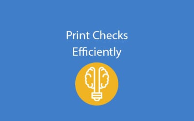 SAP Business ByDesign print-checks-efficiently