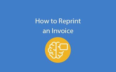 SAP Business ByDesign reprint-invoice