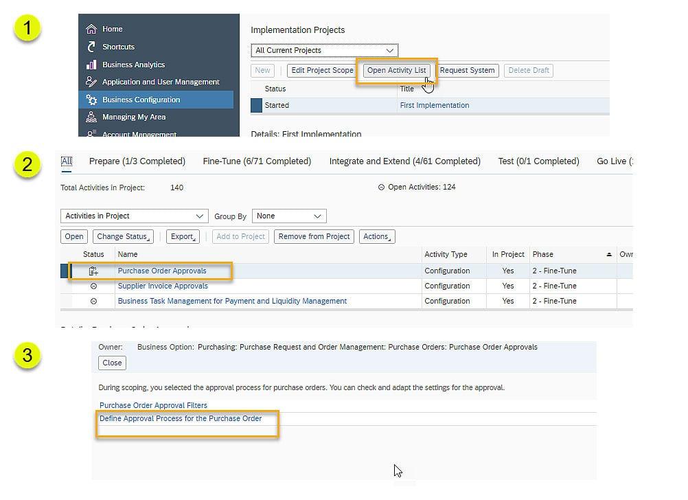 SAP Business ByDesign Configure approvals logic