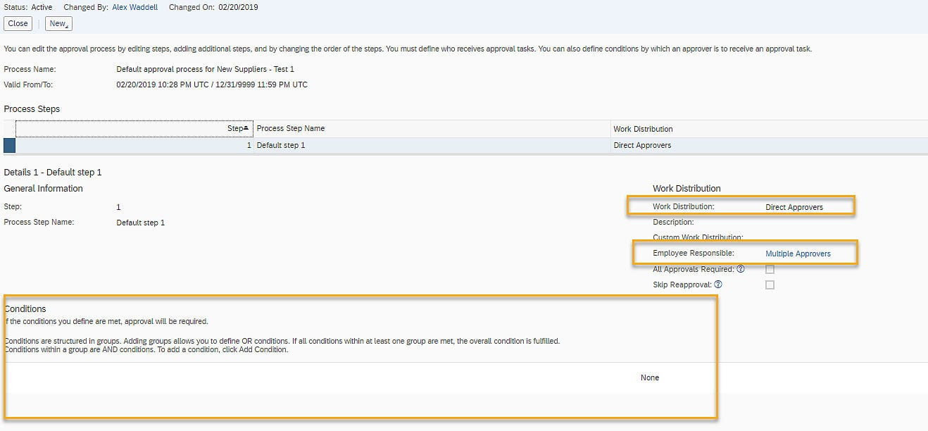 SAP Business ByDesign Approval Conditions