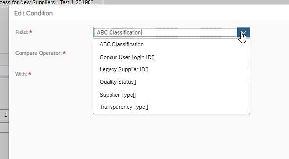 SAP Business ByDesign Supplier Classification