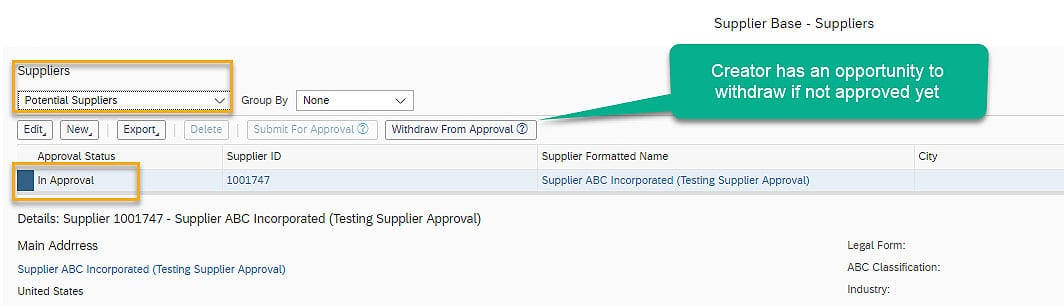 SAP Business ByDesign Potential Suppliers
