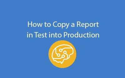 SAP Business ByDesign copy report in test