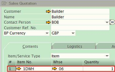 item master data - sap business one