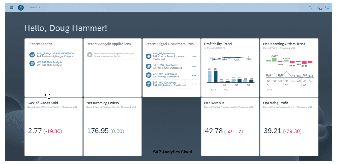 dashboard analytics cloud