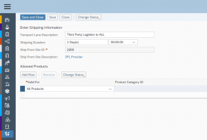 SAP Business byDesign Save settings