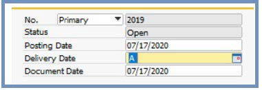 inputting date - sap business one