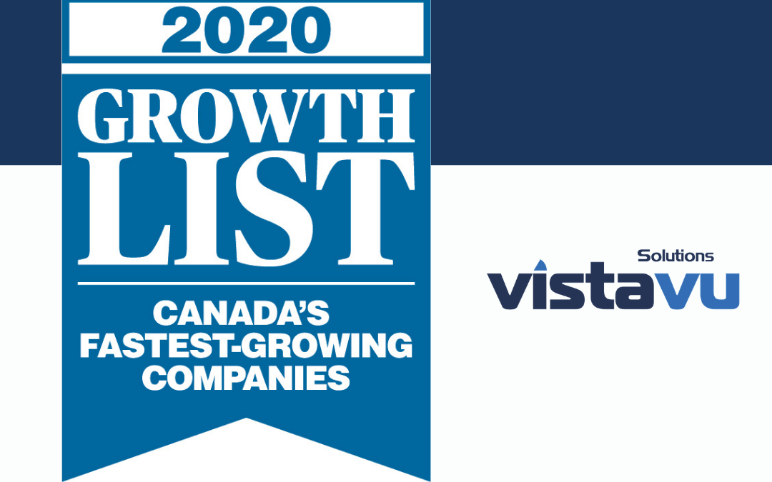 VistaVu Solutions Ranks on Canadian Business' Growth 2020 List