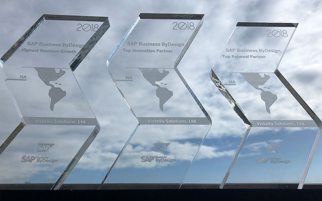 VistaVu Takes Home 3 Awards from SAP for SAP Business ByDesign Efforts