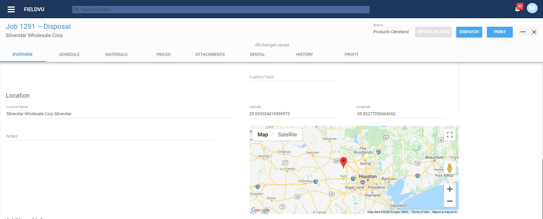 Job Location Map