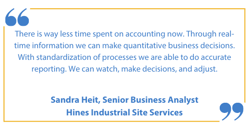 Hines Industrial Services - Success Story Quote - Field Services Business One Partner