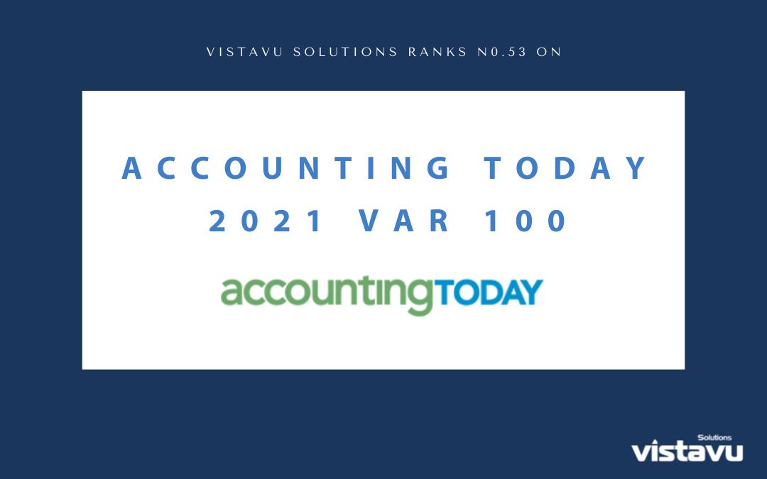 VistaVu Solutions Ranks on the 2021 VAR 100