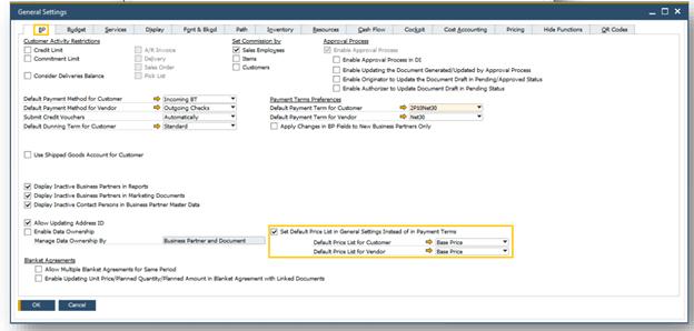 SAP Business One Business Partner Master Data