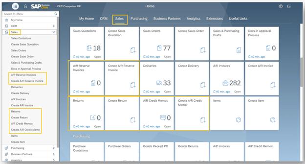 SAP Business One Web Client Enhancements