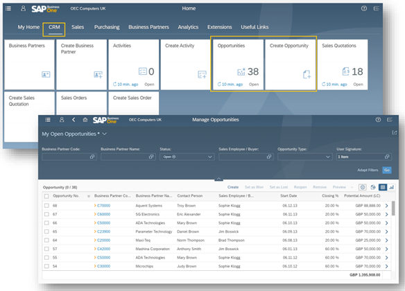SAP Business One Web Client | Support CRM
