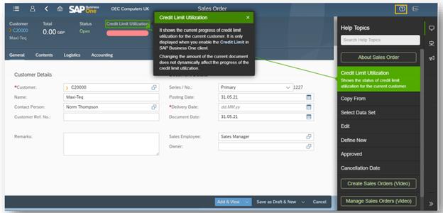 SAP Business One Web Client | Web Assistant Adoption