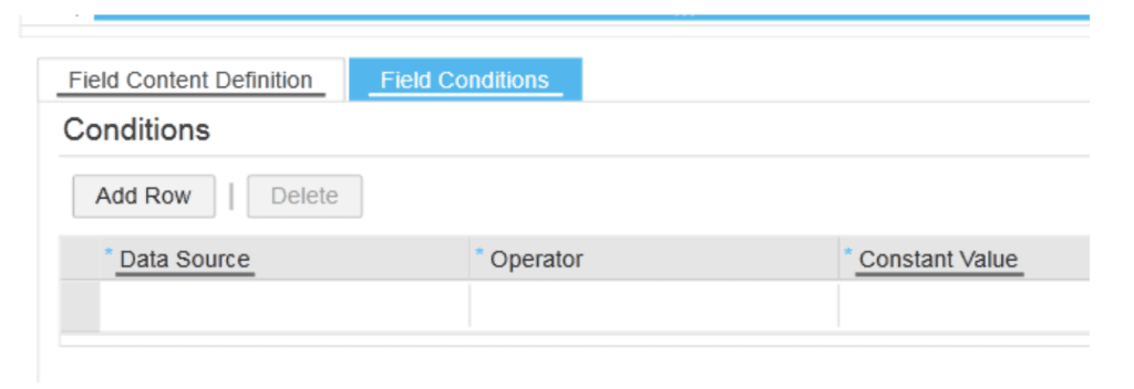 SAP ByDesign Field Conditions