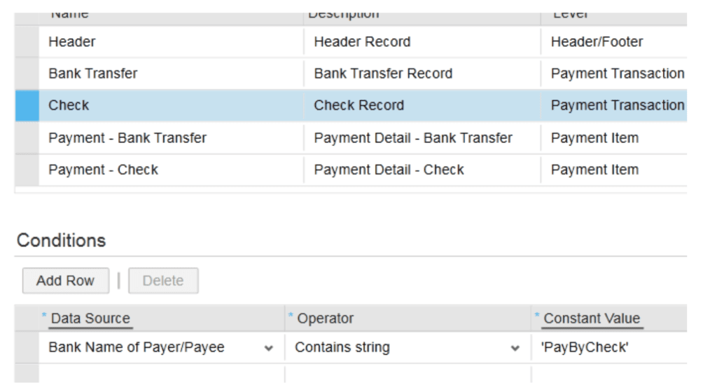 SAP ByDesign Conditions screen