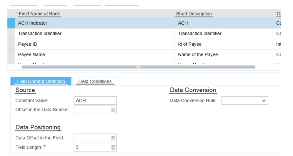 SAP ByDesign Bank Info