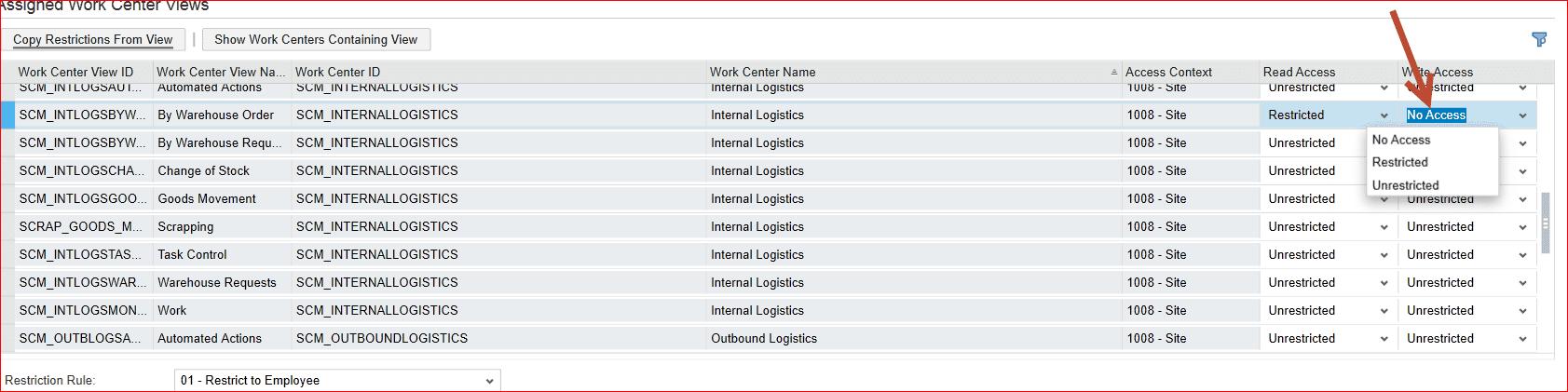 access column - sap business bydesign