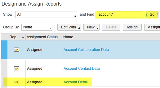 create reports in bydesign