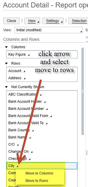 account details sap business bydesign