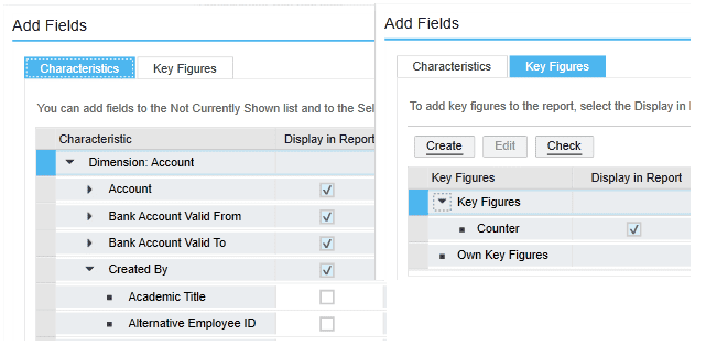 field characteristics sap business bydesign