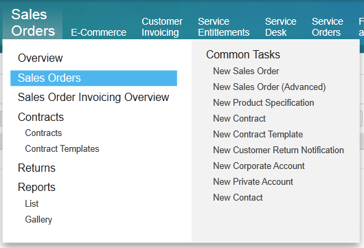 sales orders - sap business bydesign