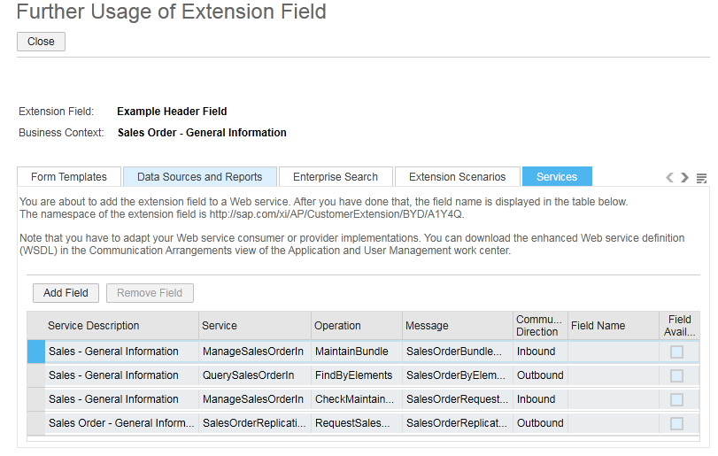 extension fields  ByDesign