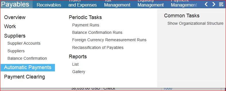Payables - SAP Business ByDesign