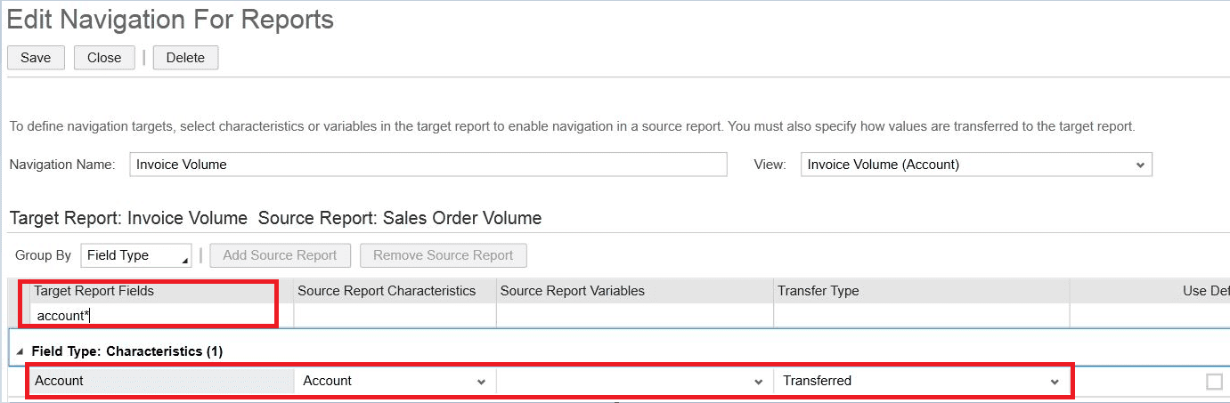 Navigation Reports - SAP Business ByDesign
